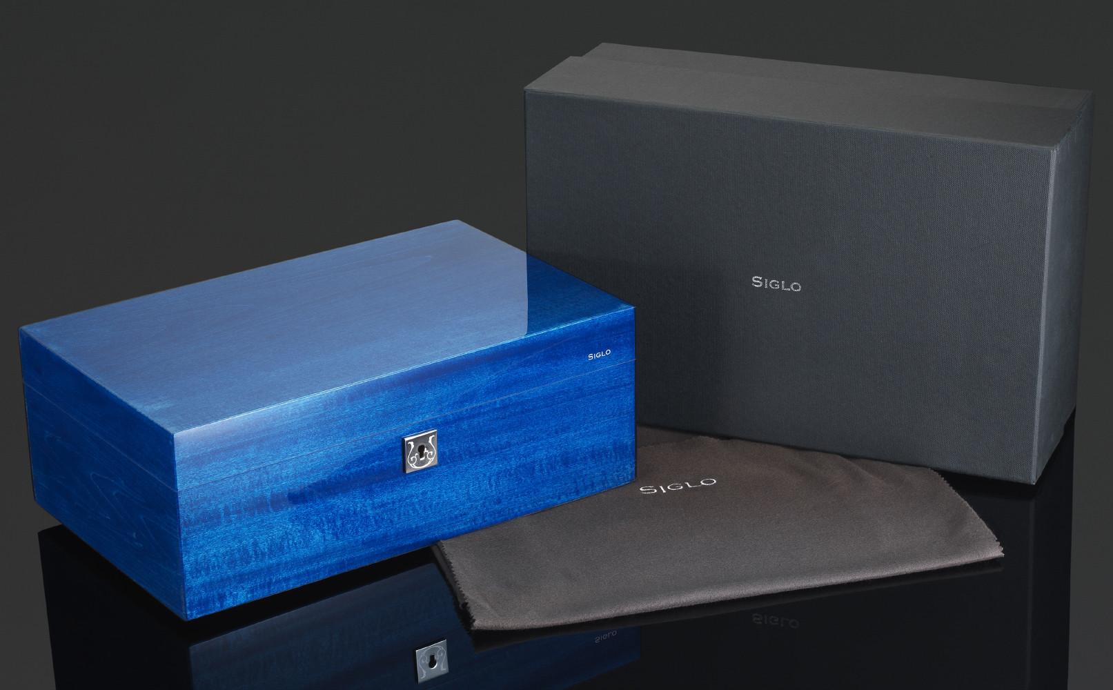 Siglo 75-Stick Humidor - Cobalt Blue